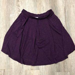 LuLaRoe Elegant sparkly plum 2XL Madison Skirt